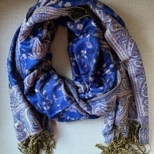 Accessories - Beautiful blue and gold Moroccan style scarf NWOT